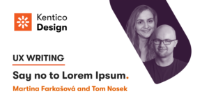 Design Hour | UX Writing—Say no to Lorem Ipsum
